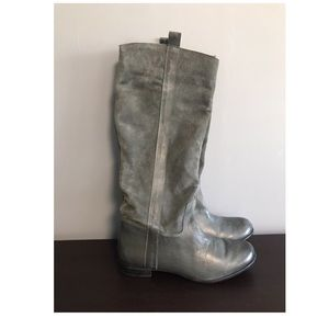 BDG gray riding boots, size 6